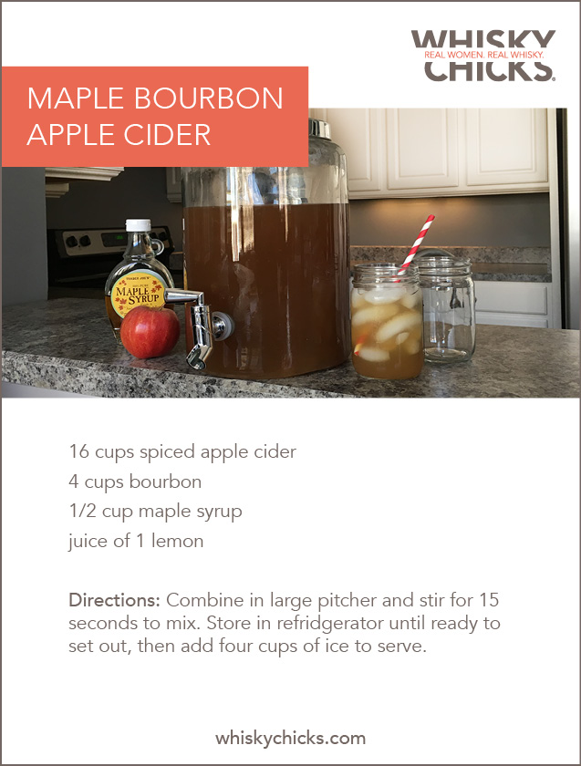 The Maple Bourbon Apple Cider - Whisky Chicks®